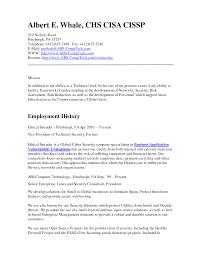 cyber security resume getessay biz network administrator example albert e whale chs cisa cissp 519 for cyber security security administrator resume