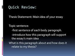 ap world history writing the thesis statement and dbq essay  ppt  quick review thesis statement main idea of your essay topic sentence first