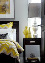 gray yellow bedroom white