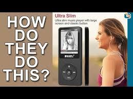 Ultra <b>Slim MP3</b> Digital Music <b>Player</b> - Ruizu X02 - YouTube