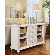 Perfect White Console Table With Storage 589 American Drew Camden And Design Ideas