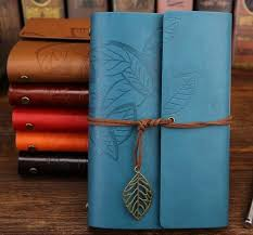 <b>Retro Leaf Faux</b> Leather Traveler Journal | Vintage diary, Vintage ...