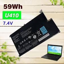 7.4V 59Wh <b>Rechargeable Laptop Battery For</b> Lenovo IdeaPad U410 ...