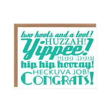 orange twist happy as a clam congrats screenprinted card