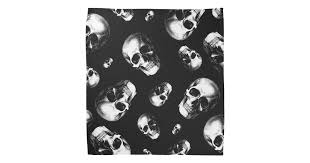 Skull <b>Gothic Halloween</b> Wedding Pocket <b>Square</b> Bandana | Zazzle ...