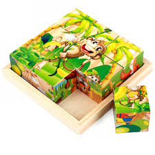 Kids Wooden 3D Puzzle Educational <b>Toys</b> For Children Scratchable ...