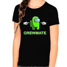 <b>Among Us</b> Shirt for Girls - Crewmate Impostor <b>T</b>-<b>Shirt</b> for Youth ...