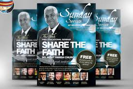 redstone church flyer template flyer templates on creative market share the faith church psd flyer