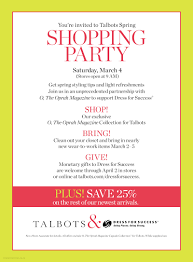 talbots spring shopping party dress for success miami talbots small