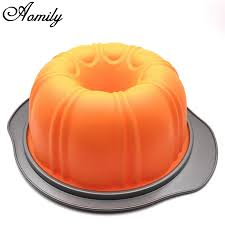 Aomily Durable <b>Halloween</b> Large Pumpkin Recycle <b>Silicone Cake</b> ...