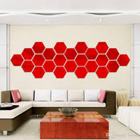 cheap hot selling wall stickers wallpaper acrylic 3d mirror effect home room decor removable fashion size cheap lighting effects