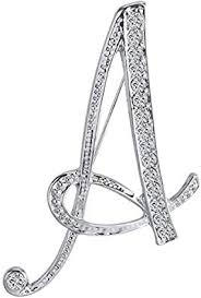 ANTOLL1Pcs A to Z 26 English Letters Silver Plated ... - Amazon.com