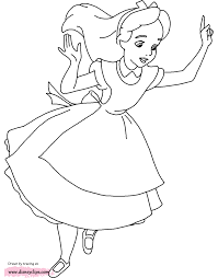 Small Picture Alice in Wonderland Coloring Pages Disney Coloring Book