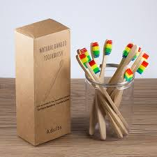 10pcs/box Wooden Toothbrush with <b>Soft Bristle Bamboo</b> Hanndle ...