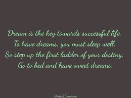 success page quotes image dream is the key towards successful