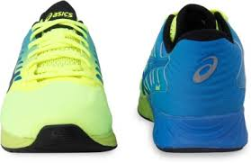 Asics fuzeX Running Shoes For Men(Blue, Safety yellow/black ...