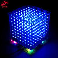 Hot sale 3D 8S 8x8x8 mini led <b>electronic</b> light cubeeds <b>diy</b> kit for ...