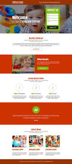 childcare landing page design examples buylpdesign blog childcare center converting lead capture landing page design
