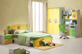 contemporary children bedroom furniture with green and yellow paint idea feat stylish floor to ceiling window children bedroom furniture designs
