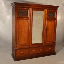 antique wardrobe walnut linen press armoire compactum english victorian c1900 antique armoires antique wardrobes english