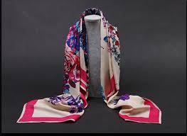 Fashion 100% Twill Print Square <b>Scarf</b> High Quality <b>Silk Head</b> ...