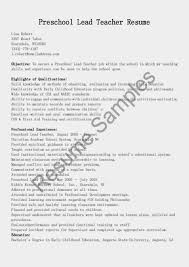 preschool teacher cover letter sales financial goverment    preschool teacher resume samples sample