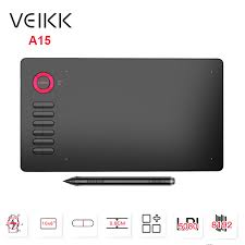 <b>VEIKK A15</b> 10x6 inch Drawing Tablet <b>0.9cm Ultra Thin</b> 5080LPI ...