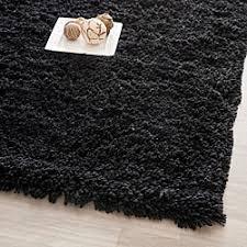 black bedroom rugs safavieh classic ultra handmade black shag rug
