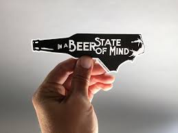 In a <b>Beer</b> State of Mind <b>Sticker</b> (With images) | <b>Beer</b> branding design ...