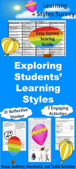best ideas about learning style inventory exploring students learning styles