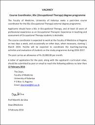 announcements  vacancy course coordinator