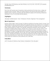 professional peer tutor templates to showcase your talent    resume templates  peer tutor