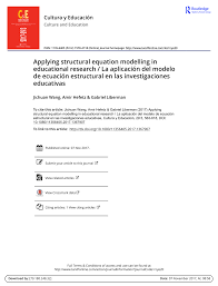 (PDF) Applying <b>structural equation</b> modelling in educational research