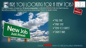 r r employment placement training results new job ahead