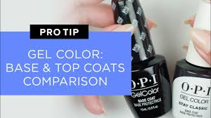New <b>OPI GelColor Base</b> Coat and Top Coat Comparison - YouTube