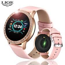 <b>LIGE Ladies Smart Watch</b> Women Blood Pressure Heart Rate ...