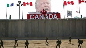 trump i will build a great canadian wall to keep americans in build wall