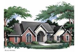 Eplans New American House Plan   Winsome One Story Brick Home    Front