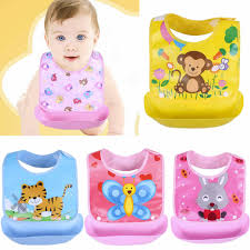 MUQGEW <b>Cartoon Prints Kids Silicon</b> Bib Cute Kid Infant Bibs Baby ...