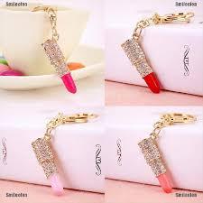 Smileofen <b>Crystal</b> Rhinestone <b>Lipstick Makeup</b> Keyring Purse Bag ...