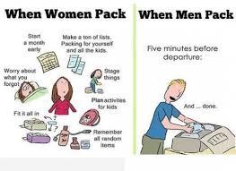 Afbeeldingsresultaat voor koffer inpakken grappig