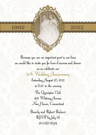 formal and classic style th wedding anniversary party invitation formal and classic style 50th wedding anniversary party invitation design idea white background and photo frame