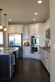 Small Picture Love the white cabinets and wide plank floors Favorite Places