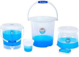 Liza Rio <b>Bathroom Set 5</b> Pcs 20 L Plastic Bucket Price in India - Buy ...