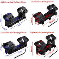 Dual Rail High Low Wide Narrow Ring Tactical Scope Dovetail ...