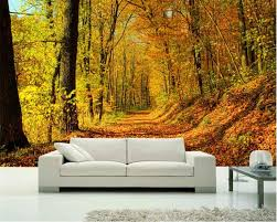 <b>Beibehang</b> Large photo wallpaper full of leaves autumn forest 3d ...