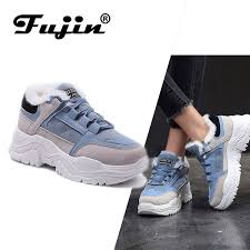 <b>FUJIN</b> Women Women Casual <b>Sneakers Winter Sneakers</b> Plush Fur ...
