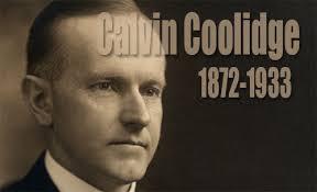 「President Calvin Coolidge」の画像検索結果