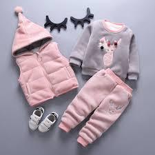 Sweet <b>Spring</b>/<b>Autumn Baby</b> Girls Hooded Vest + Top + Pants Set ...
