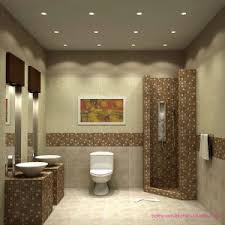 mosaic tile wall for elegant small bathroom designs with glass shower door and modern toilet plus ceiling wall shower lighting